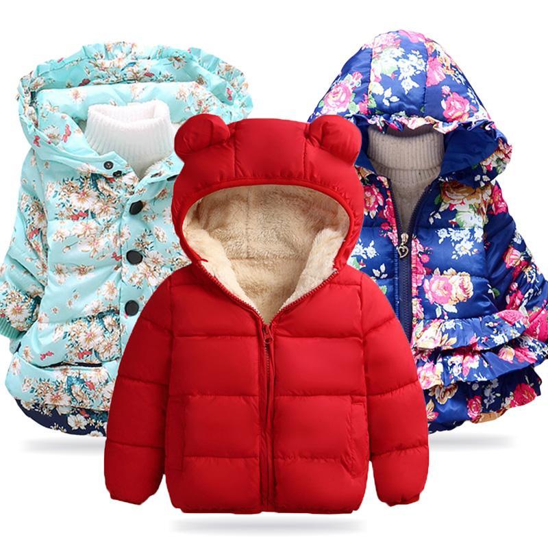 Baby Girls Jacket 2019 Autumn Winter Jacket For Girls Coat Kids Warm Outerwear Coat For Boy Jacket Children Clothes 1 2 3 4 Year MX191024