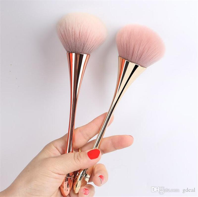 New single small waist makeup brush beauty tools plastic goblet loose powder blush brush makeup tools 3PCS