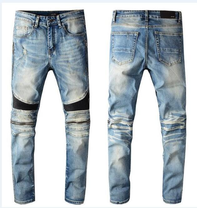 CALDO nuove donne di estate Mens creativo Cat Eye ricamo jeans maschio coreano versione Designer Jeans rughe Patch Stretch Slim Piedi Pantaloni 1520