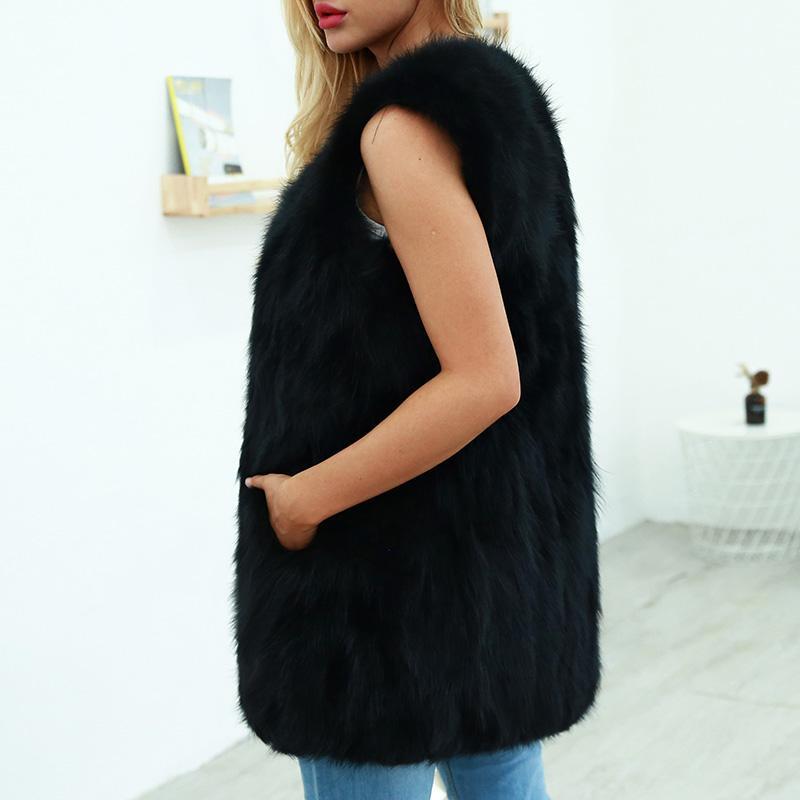 Großhandel Romacci XXXL Colete Feminino Mode Frauen Winter Faux Pelzmantel Solide Warm Slim Weste Weste Sleeveless Jacke Gilet Oberbekleidung Von