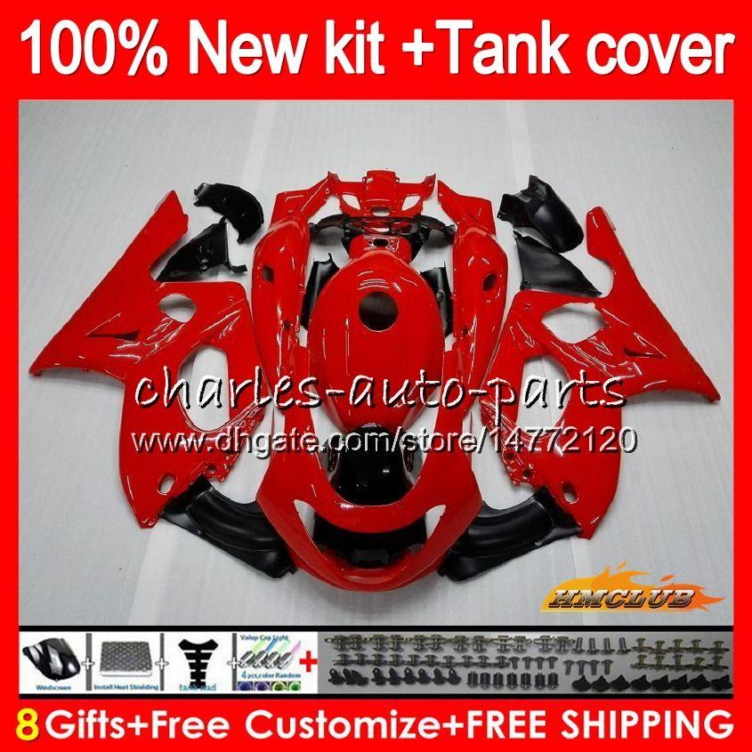 ヤマハYZF600R YZF 600R C 72HC.12光沢のある赤いトップYZF-600R 1996 1997 1997 2003 2003 2004 2007 2007フェアリング