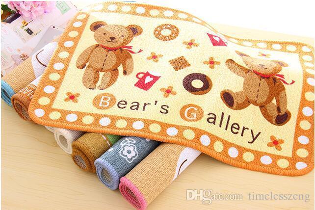 Alta calidad Corea lindo pequeño oso pastoral baño absorbente piso Mat puerta Mat alfombra esteras antideslizante Pad