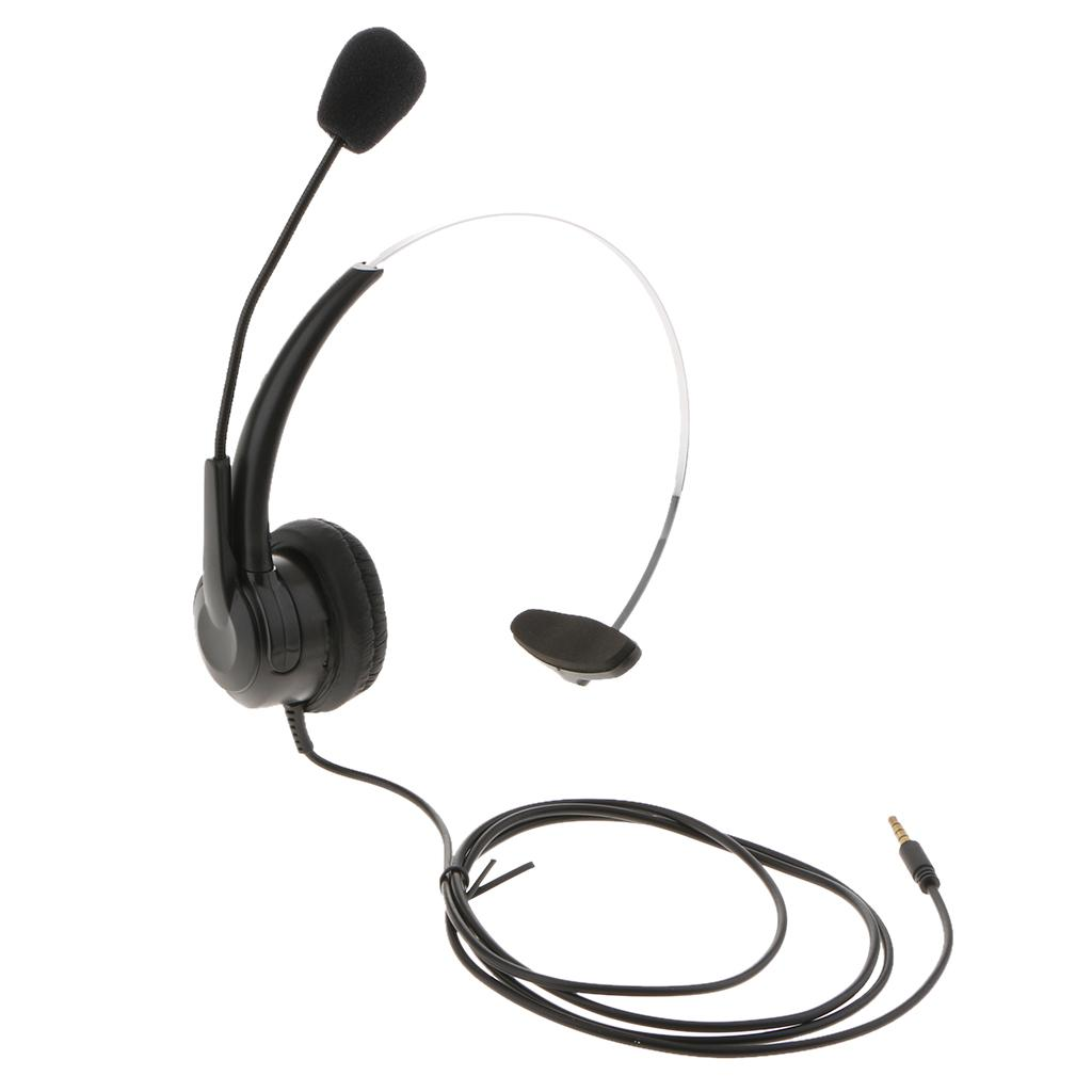 3 5mm Jack Cell Phone Headset Over The Head Monaural Headphone With Mic Wired Cell Phone Headset Wired Headset For Cell Phone From Magideal 9 85 Dhgate Com