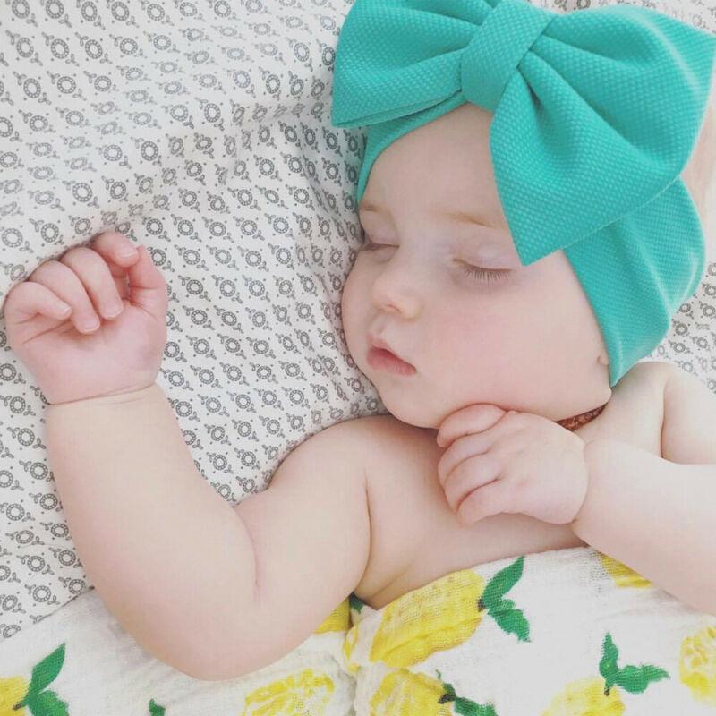 Bebé cabrito recién nacido princesa grande del arco Turbon venda del nudo pelo de la venda Hairband