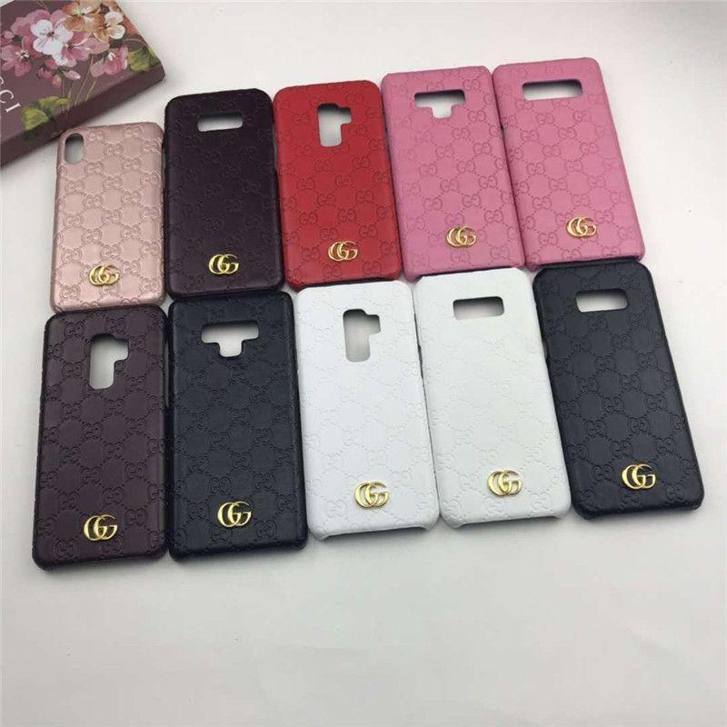 Pour Samsung Galaxy S7 S8 S9 bord plus lettre en relief de mode G téléphone couverture de cas pour Samsung Note 5 8 9 10 Plus couvercle arrière dur