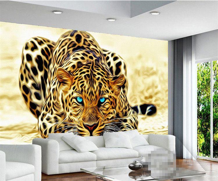 3D Wallpaper High quality leopard wall covering living room sofa bedroom TV backdrop wallpaper mural wall paper