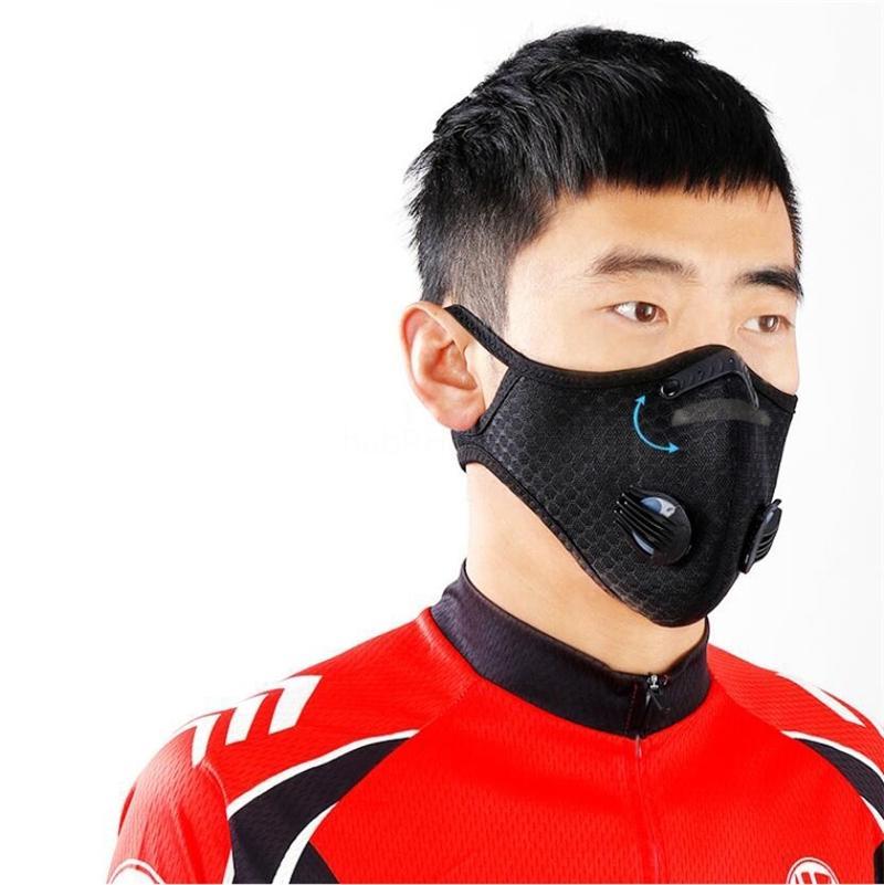 Gratuit DHL navire! Double Respirant Simple Double Valve Air poussière réutilisable anti-poussière PM2,5 extérieure bouche Masque de protection FaGga3333 QA88AY