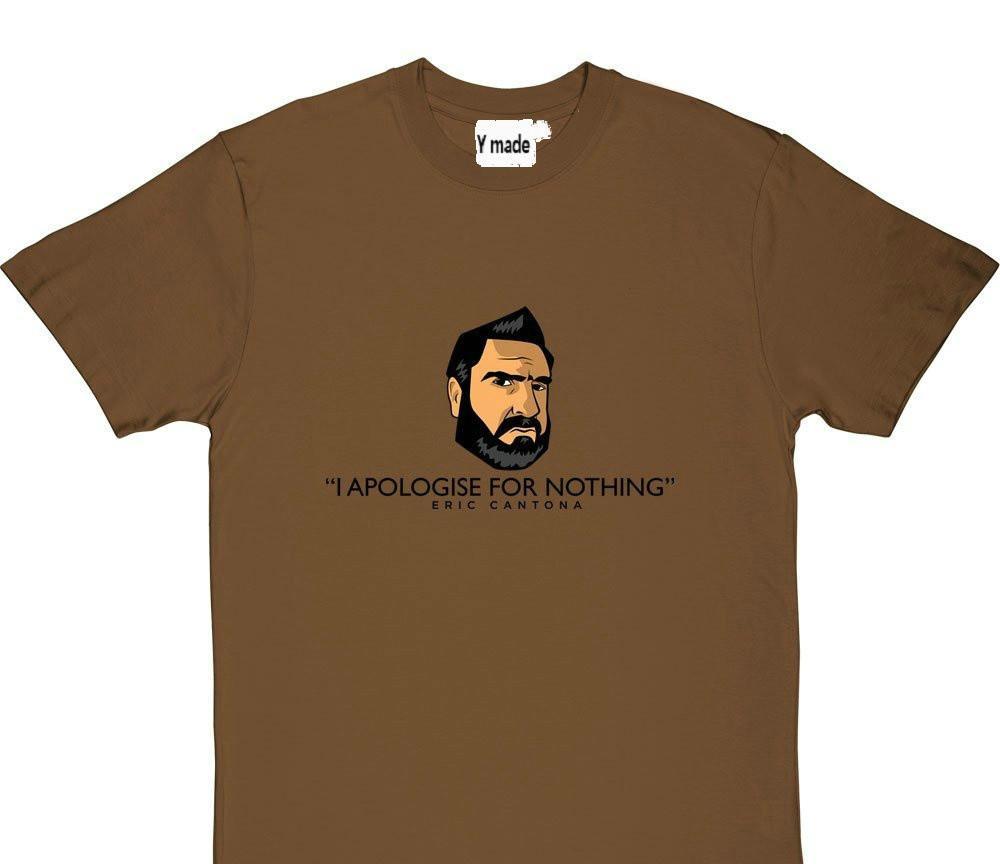 재미 남성 T 셔츠 화이트 T 셔츠 티셔츠 블랙 티 T 셔츠 디자인 에릭 칸토나 사과 남성 재미 O 목