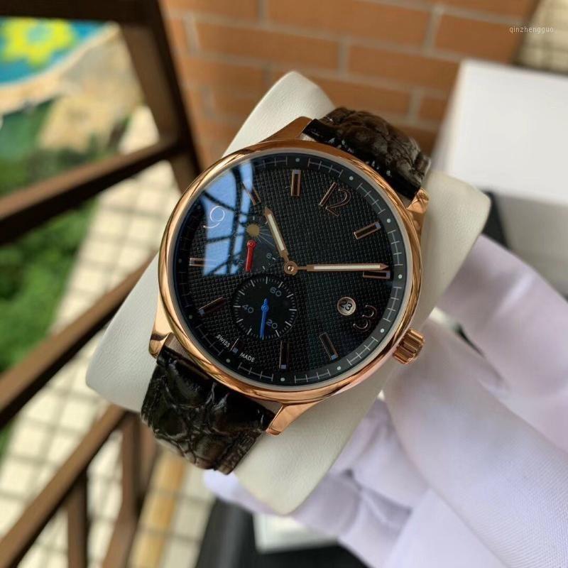 Herren-Lederband Uhren 41MM Automatik-Uhrwerk Armbanduhren Kinderuhren 316 Edelstahl-mechanische Uhr für Men1