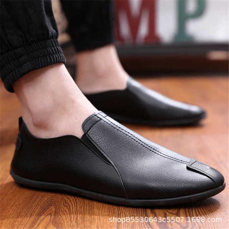 Loafers Zip Mann Schuhe Herren Loafer PU-Leder Loafers Breathable beiläufige Schuhe der Männer Frühlings-Herbst-Fahren Schuh Männer Mokassins