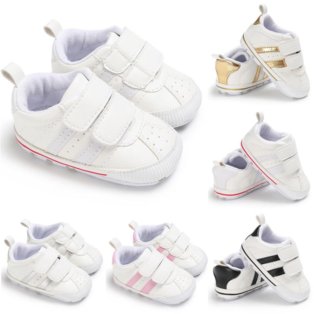 Uk Fashion Newborn Baby Boy Girl Soft Sole Shoes Trainers Size 0-18 Months