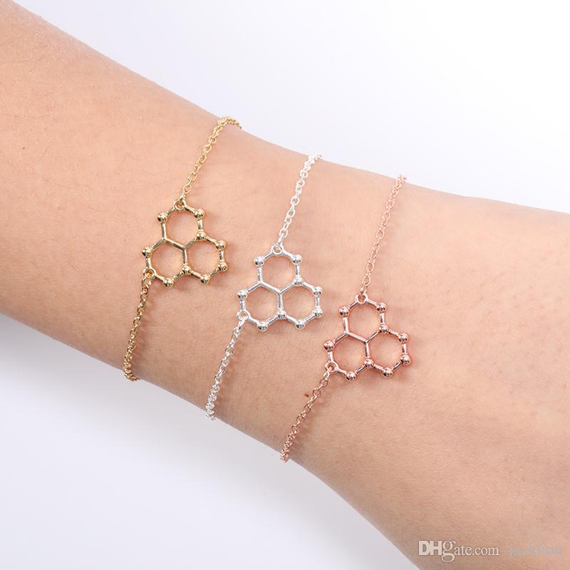 Compre 10 Unids Ice Hydro Water H2o Molécula Estructura Pulsera Ciencia Geométrica Química Hormona Fórmula Dopamina Molecular Pulseras Brazaletes A
