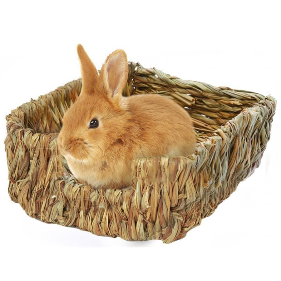 공예 짠 잔디 햄스터 둥지 작은 애완 동물 토끼 햄스터 케이지 하우스 장난감 접이식 돼지 쥐 고슴도치 친칠라 침대를 씹어 서