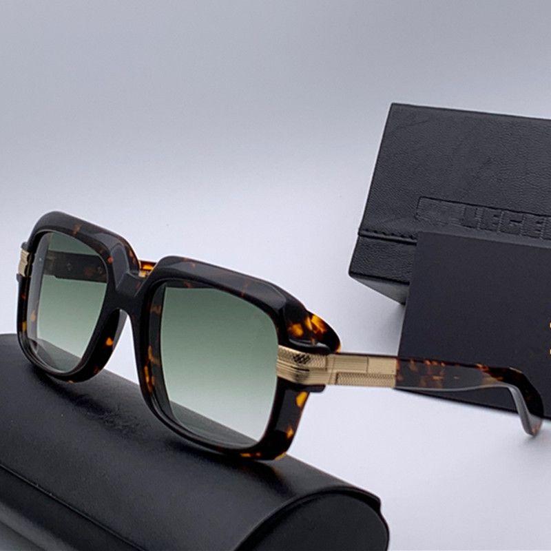 فاخر مصمم نظارات رجالي 607 متر مربع أسلوب بسيط خمر النمط الكلاسيكي شعبية ذات جودة عالية بيع UV400 النظارات الواقية مع مربع