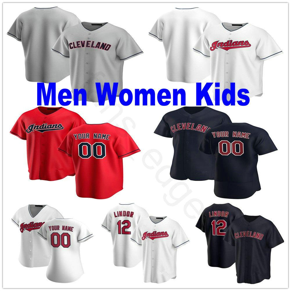 2020 New Custom Yasiel Puig Carlos Carrasco Shane Bieber Sandy Leon Danny Salazar Stitched Man Women Kids Youth Baseball Jerseys