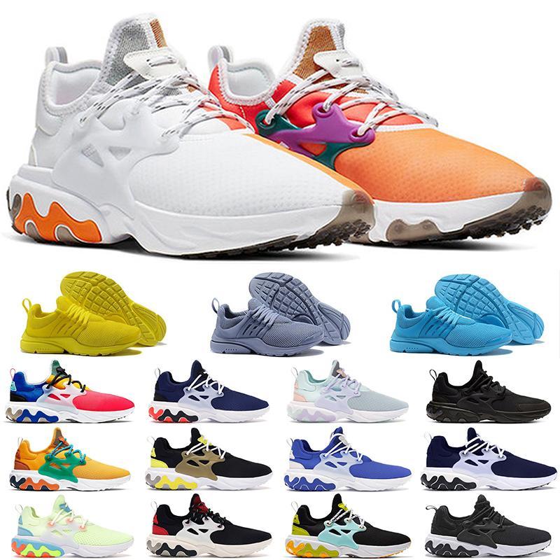 2021 Yeni Reaktif 5 BR QS Solunum Sarı Siyah Beyaz Erkek Ayakkabı Sneakers Kadın Koşu Ayakkabıları Erkekler Için Spor Ayakkabı Tasarımcısı