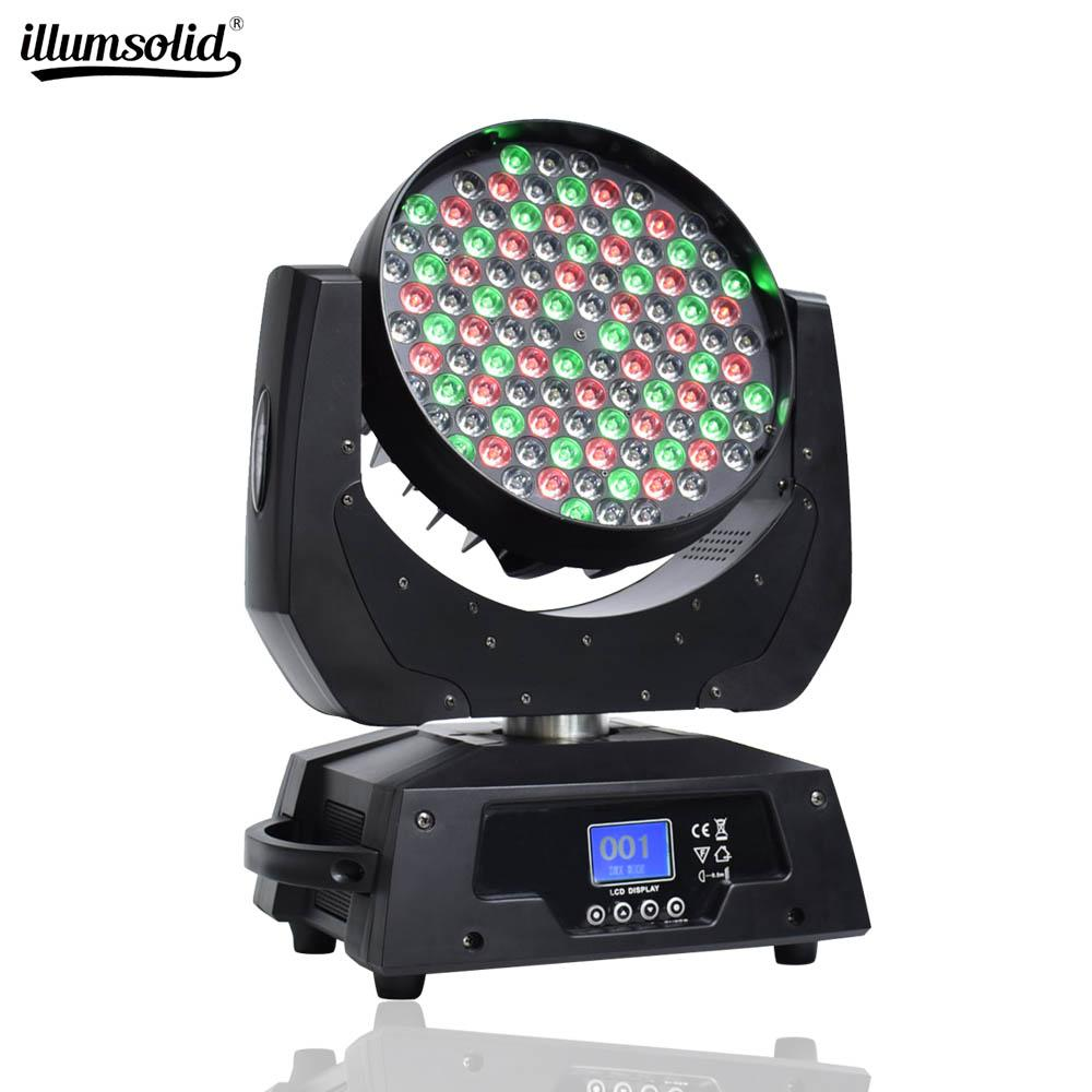 108x3W RGBW (4 in1) Noel Doğum Düğün Işık Başkanı Yıkama Işın Sahne Işık Spotlight DMX512 Hareketli LED