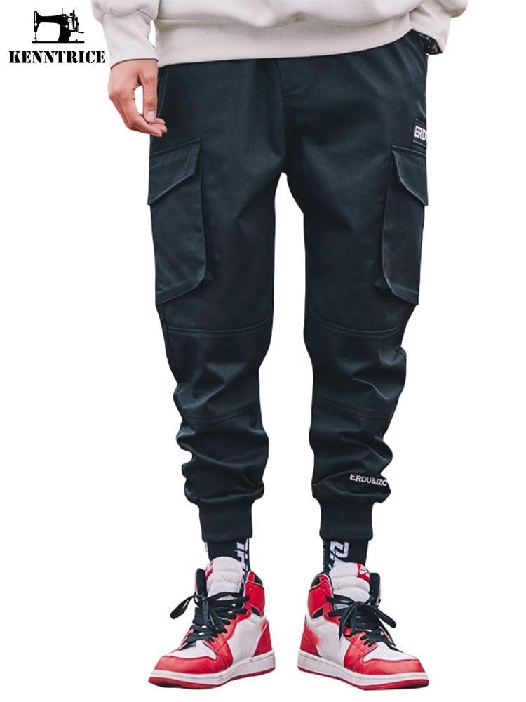Toptan Rahat Gevşek Siyah Pantolon Erkekler Erkekler Için Harem Kalem Pantolon Joggers Parça Pantolon Streetwear Sweatpants