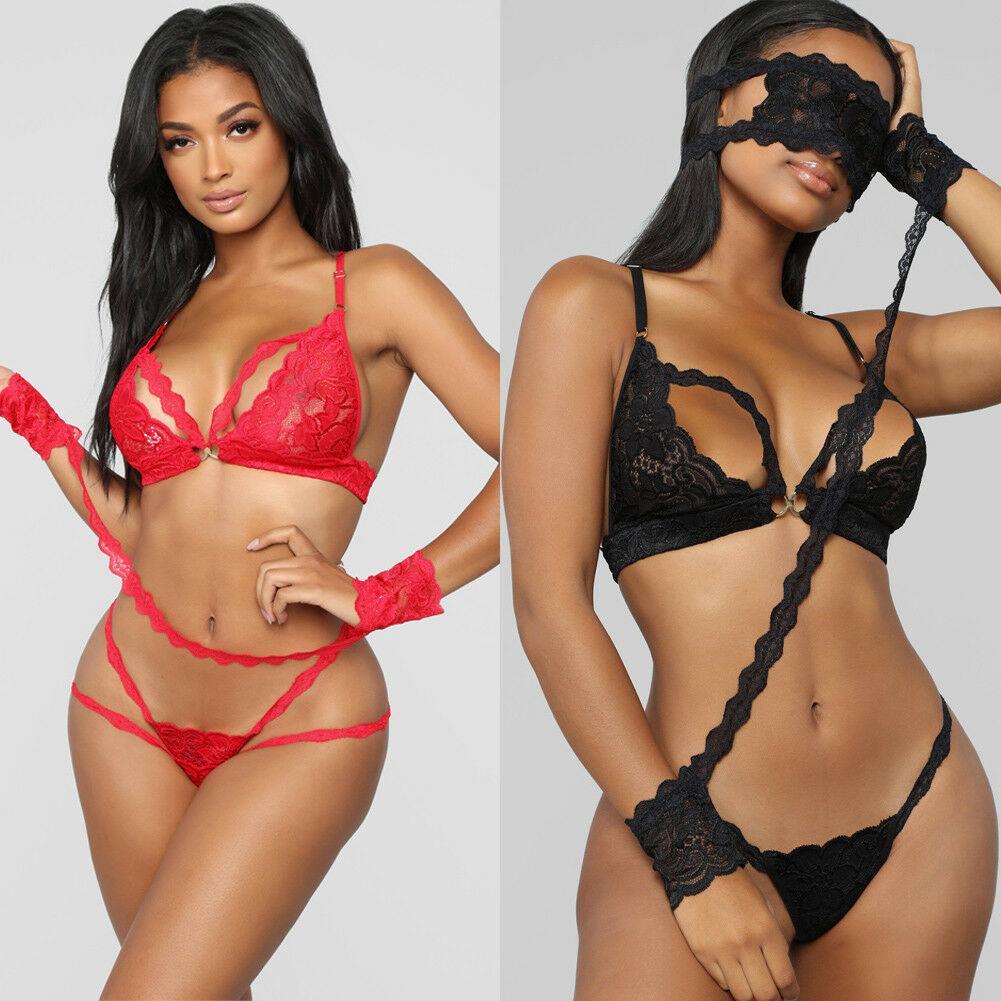 Сексуальное женское белье Lace See-через бинты высокого качества способа Bralette Бюстгальтер Brief Набор Intimate Сексуальное белье кружева