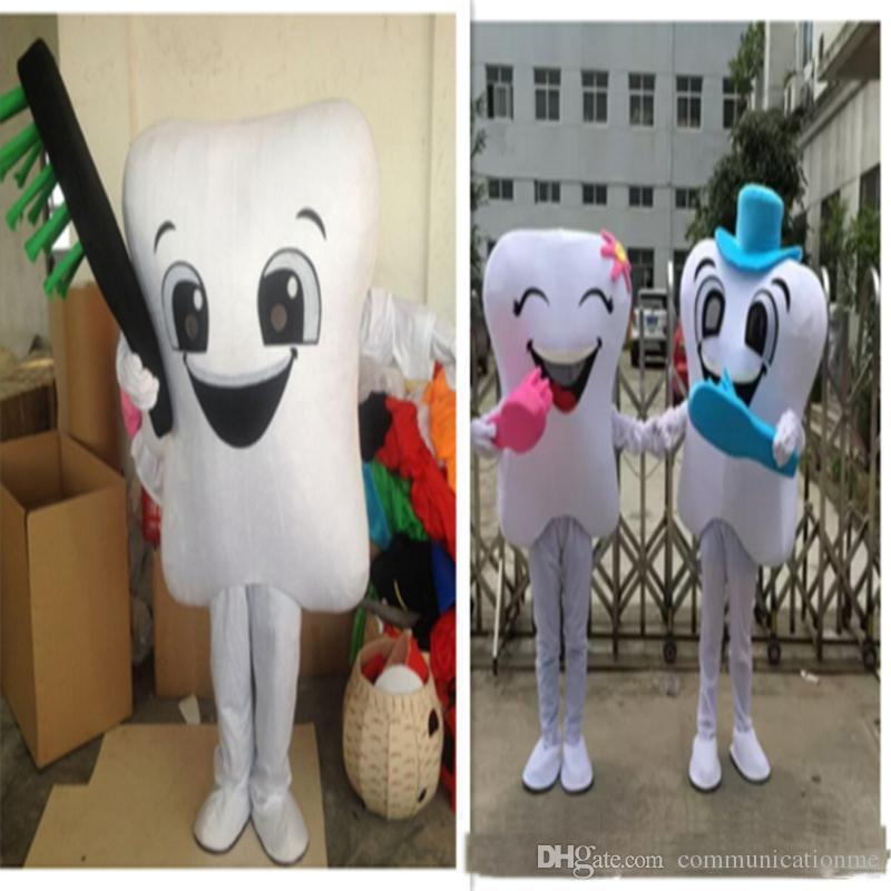 2019 Factory direct sale Tooth Mascot Costume Adult Size With Toothbrush Free Shipping For Festival advertising