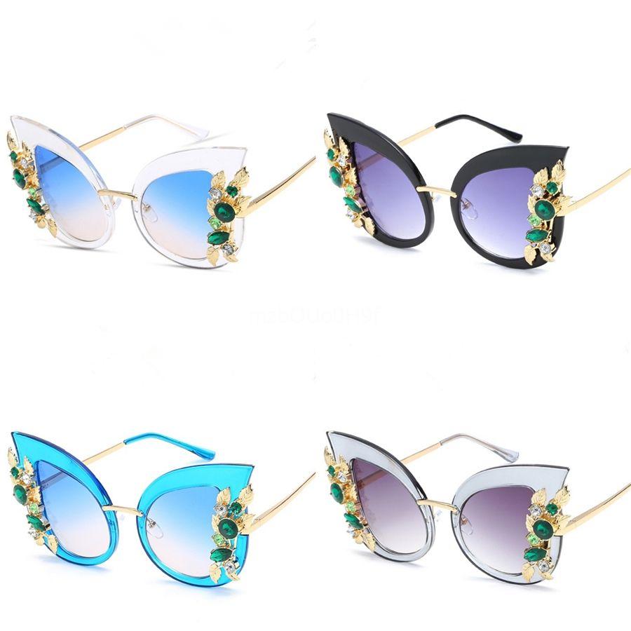 Del recorrido del capítulo nuevas gafas de sol de los niños grandes de la manera Gafas de sol Gafas Niño Niña de ojos de accesorios Cateye Uv400 linda # 473061