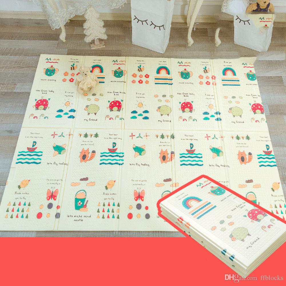 2019 Portable Foldable Baby Climbing Pad Cartoon Bear Baby Play Mat Foam  Pad XPE Environmental Tasteless Parlor Game Blanket From Ffblocks, $21 81 |