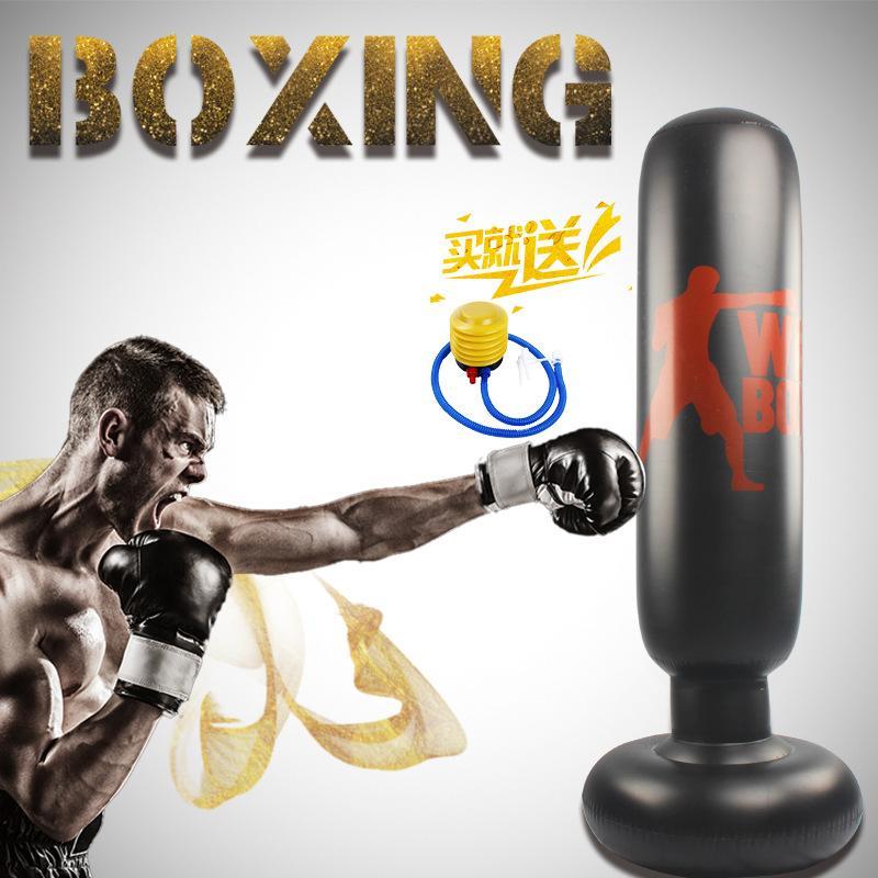 Vendite calde di New gonfiabile decompressione Fitness Boxe Colonna 1,6 metri gonfiabile verticali accessori per la casa Sandbag Boxing