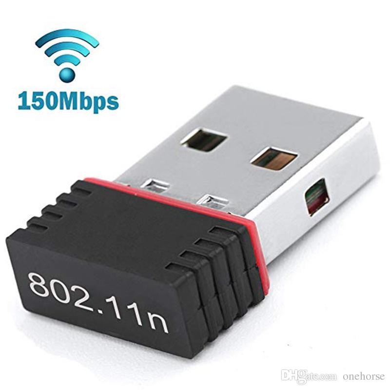 محول واي فاي 150Mbps لUSB، أجهزة الكمبيوتر المحمول بطاقة شبكة لاسلكية واي فاي محول دونغل للحصول على جهاز كمبيوتر سطح المكتب ويندوز 10 8 7 MAC OS التوت بي Pi2