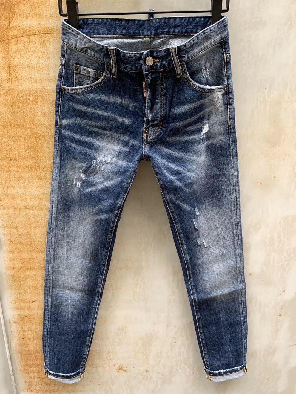 2020 nueva marca de jeans de moda de los hombres europeos y americanos ocasionales, lavado de alto grado, la molienda pura mano, la optimización de la calidad LS991