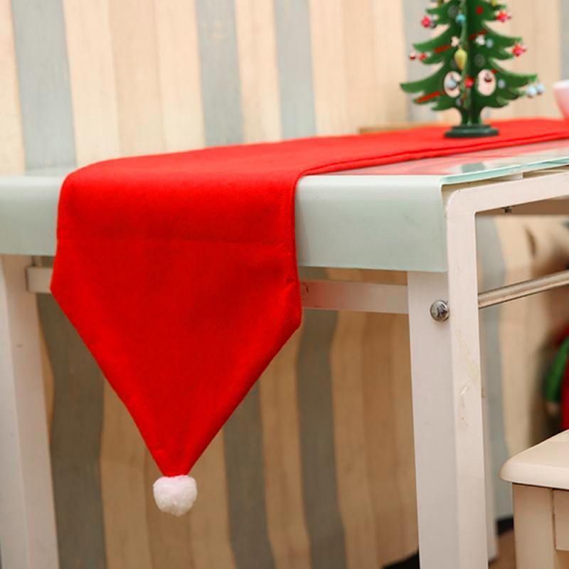 Tabela de Natal Hot Runner 34 * 176 centímetros Decor Tabela Jantar Toalha de Mesa natal festa Home Hotel Natal Decoração