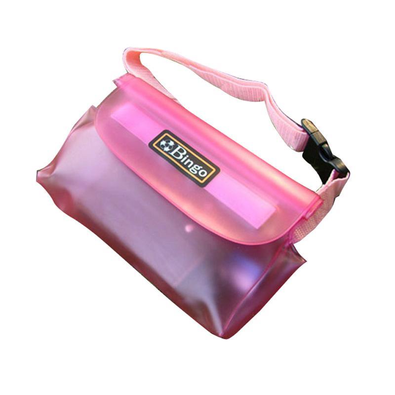 Bingo carteira móvel material de PVC saco de cintura impermeável, profundidade à prova d'água de 20 metros, três selos à prova d'água mais de perto