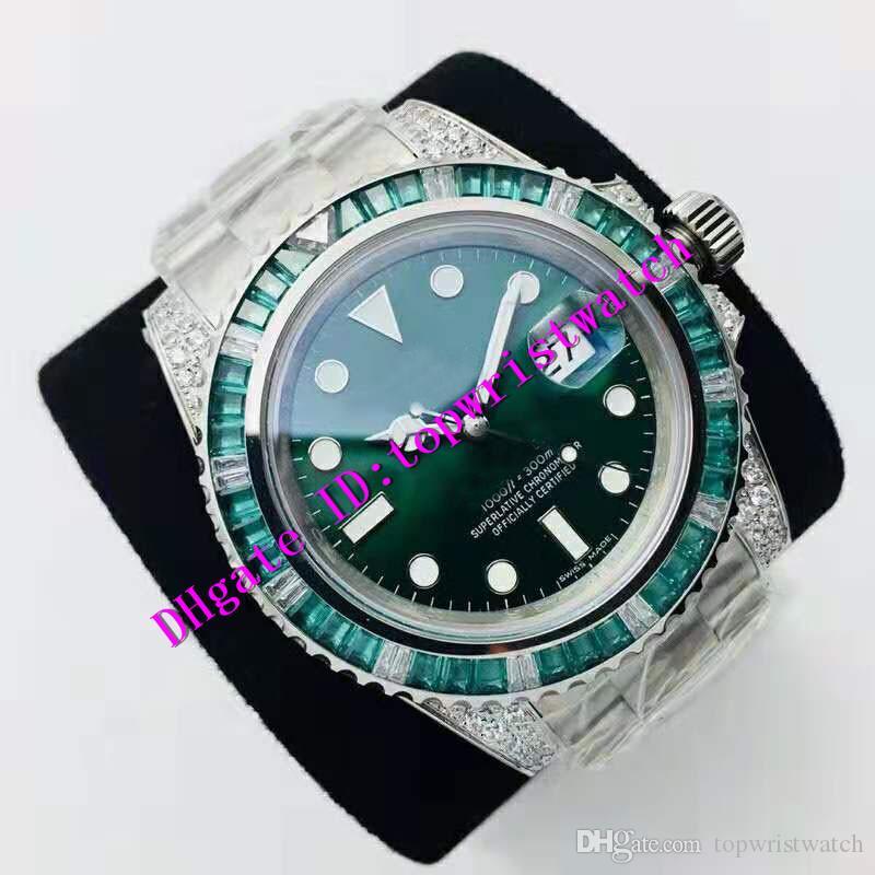 N Factory V2 дата 116610LV Diamond роскошные мужские часы Swiss 3135 автоматический механический Сапфир 904L нержавеющая сталь мужские наручные часы световой