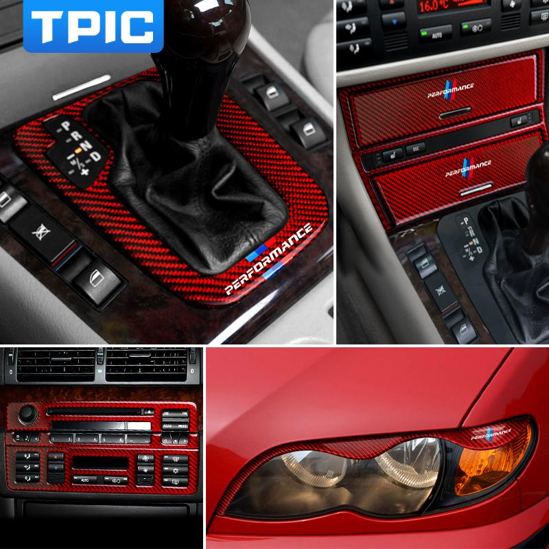 BMW E46 Karbon Elyaf Araç İç Pano Enstrüman Trim Merkez Kontrol Çerçeve Paneli Saklama Kutusu Dekor 1998-2004 3 Serisi için