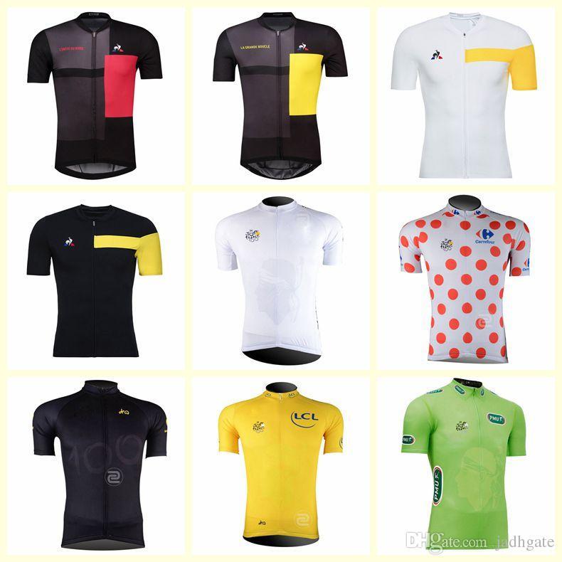 2019 جولة فرنسا للدراجات فريق الدراجات قصيرة الأكمام جيرسي الرجال الصيف الطريق دراجة ارتداء سريعة الجافة mtb سباق الملابس روبا ciclismo U80816