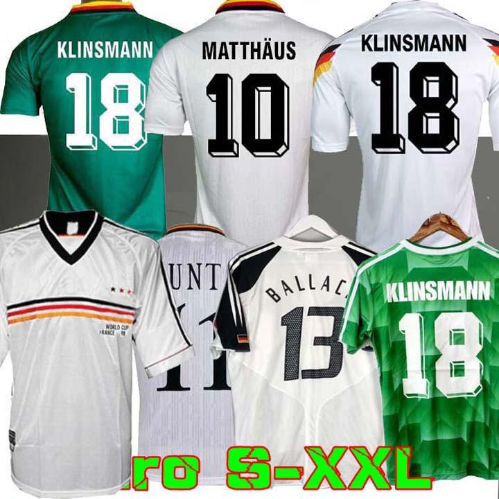 Coupe du Monde 1990 1994 1988 Allemagne Retro Littbarski BALLACK Soccer Jersey KLINSMANN Matthias 1998 2014 chemises KALKBRENNER JERSEY 1996 2004