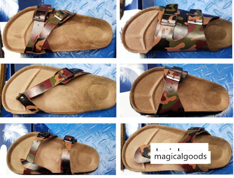 2020 neue Farbe Mens Slippers Mens flache Sandalen Damenschuhe eine Schnalle Mode Arizona Sommer-Strand-Top-Qualität mit Orignal Schuhe Box