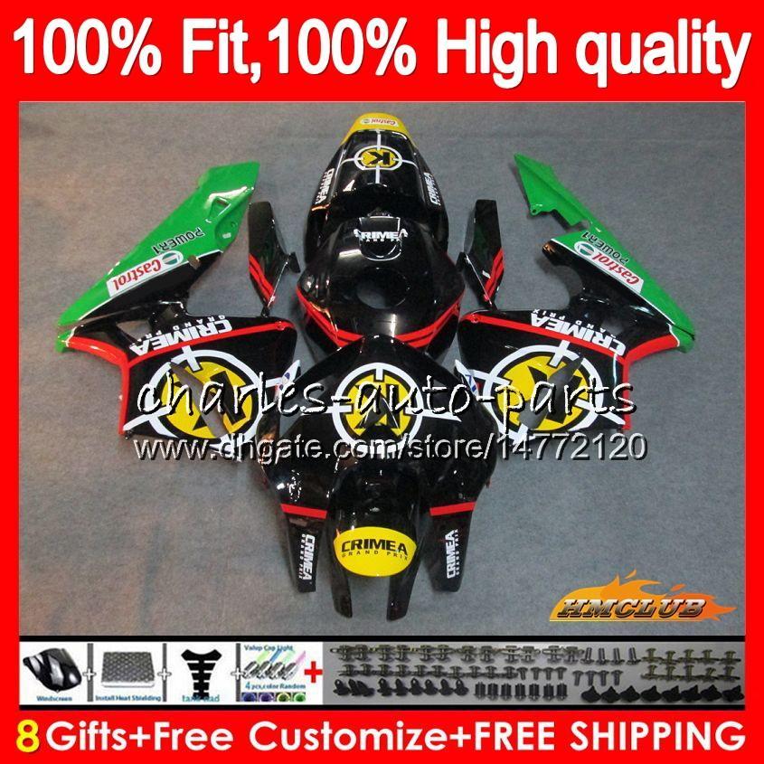 molde de inyección para HONDA CBR600RR CBR600 RR 2005 2006 80HC.54 CBR600F5 CBR 600RR 600F5 05 06 CBR 600 RR F5 05 06 carenado OEM verde caliente de la venta