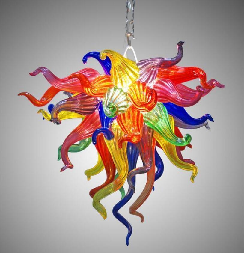 Lampade colorate lampadario cristallo moderno design a mano in vetro soffiato a mano decorazione della casa illuminazione a led lampada a sospensione