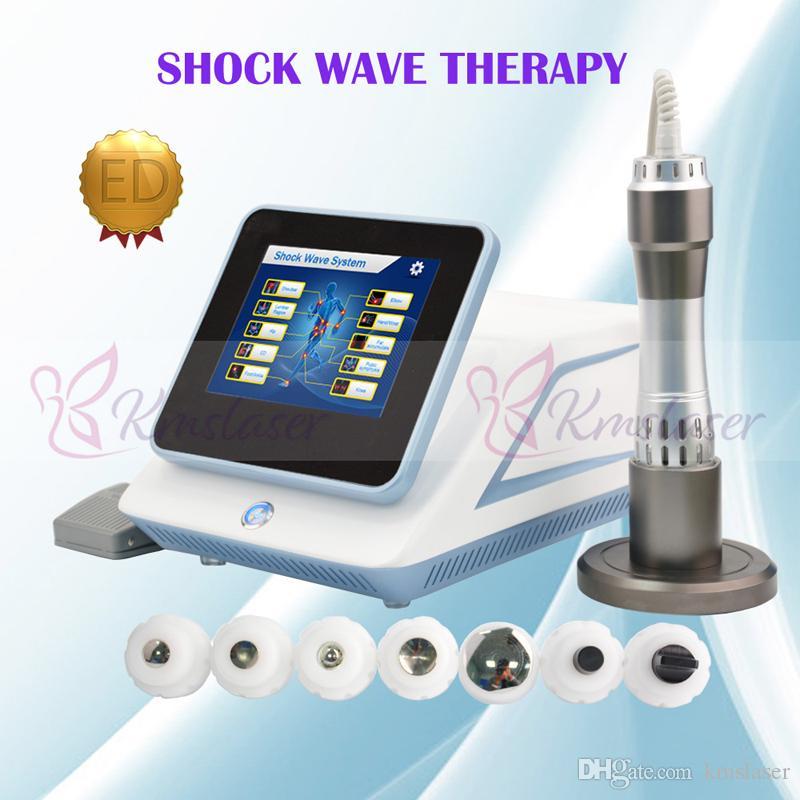 Dispositivo portátil da terapia da onda de choque para a ortopedia / máquina radial acústica da baixa intensidade de ESWT para a deficiência orgânica eréctil