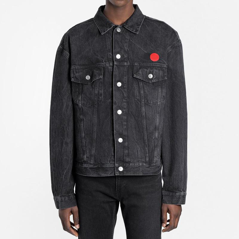 Nova França Moda High-End Denim Jacket Carta clássico logotipo impresso Lavados Mulheres Homens Vintage Casual Exteriores Rua Denim Jackets HFYMJK301