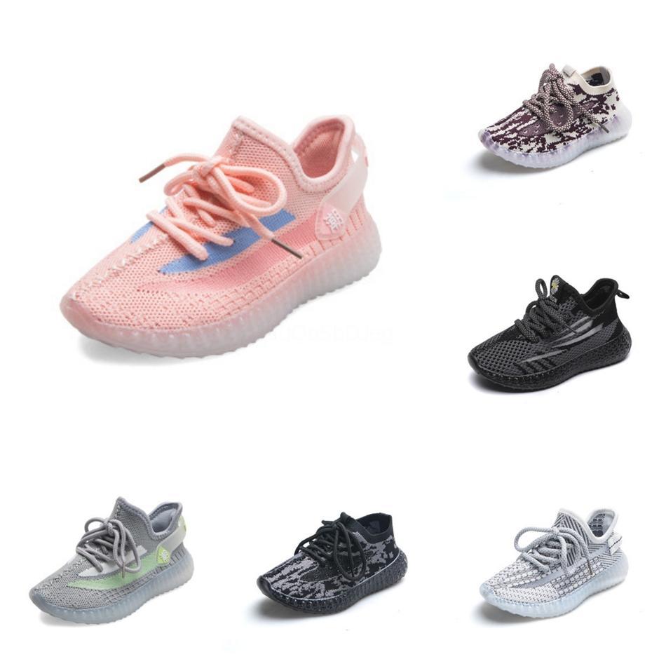 Yeni Çocuk Erkek Çocuklar Kız Chaussures Enfant Eu Boyutu dökün Sneakers Bebek Bebek Kanye West Run Ayakkabı Bebek Tasarımcı Ayakkabı Koşu 26-3 # 97