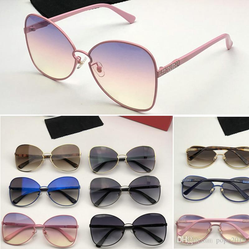 شعبي جديد مصمم النظارات الشمسية SF 928S الإطار المعدني جولة كبيرة قوس قزح الحاجب نظارات التصميم الإبداعي حماية نظارات UV400 تأتي مع الصندوق