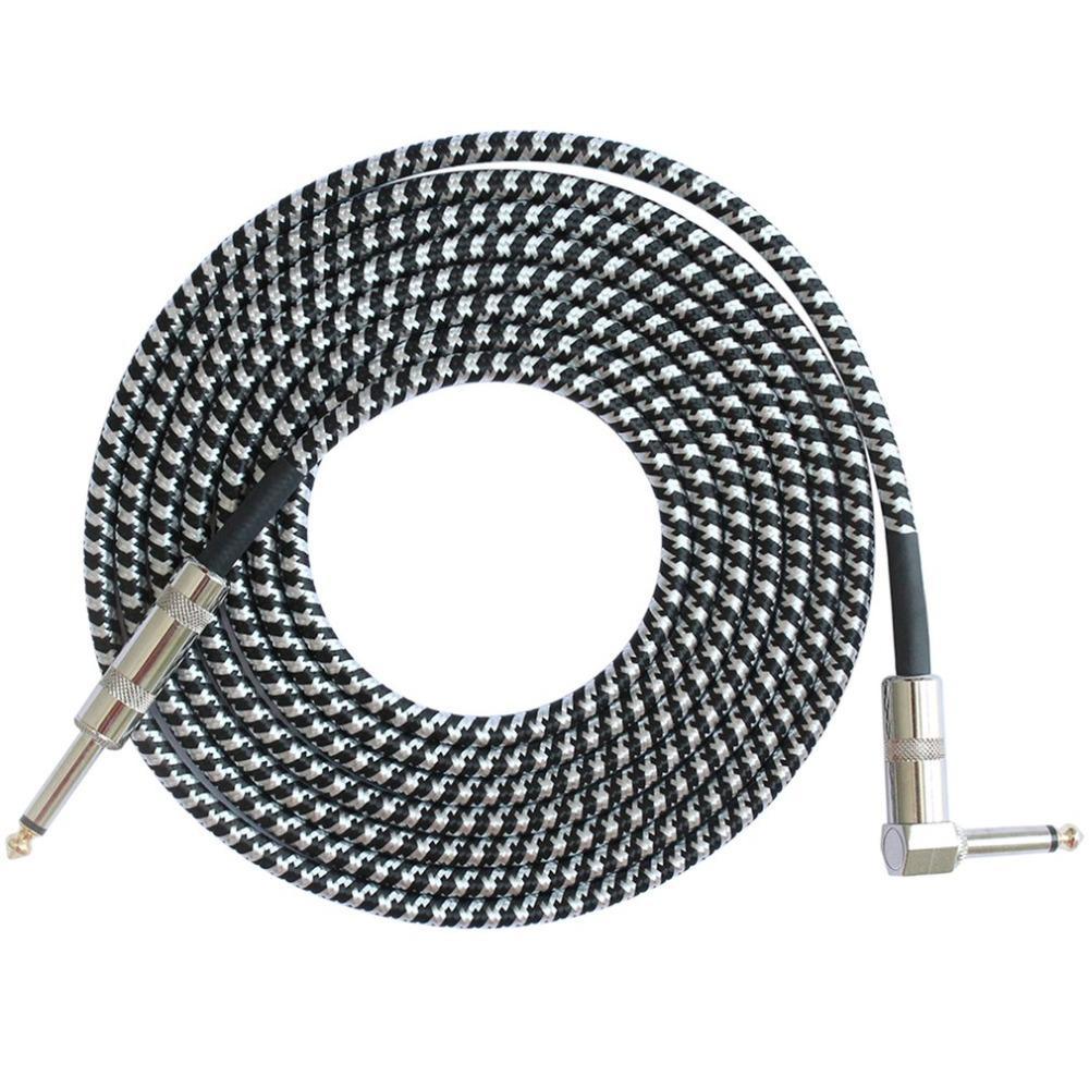 مونو جاك غيتار كابل الصوت ذكر لذكر كابل سلك الحبل الحياكة النحاس 6.35mm مستقيم التوصيل للادوات الكهربائية