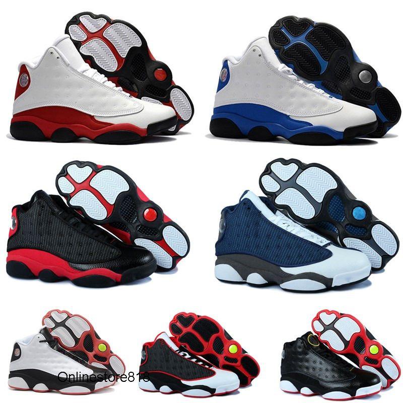 Zapatos de alta calidad para hombre 13s baloncesto 13 Hyper Real, Italia, Azul Burdeos Pedernales Chicago Bred Calzado Hombres Mujeres Deportes zapatillas de deporte Tamaño 7-13