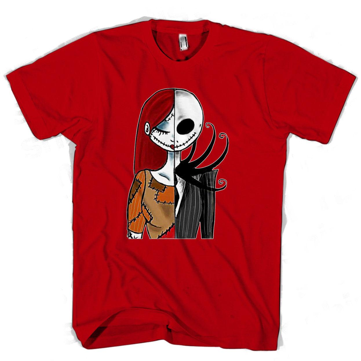 HALF JACK HALF SALLY T-Shirt christmas mens nightmare top