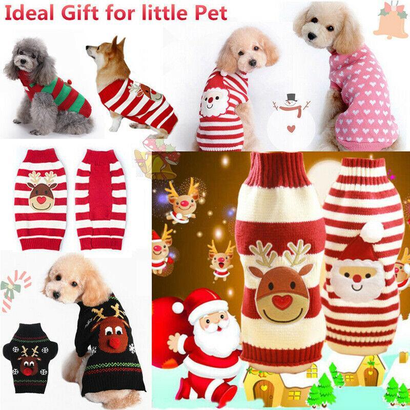 كلب الملابس عيد الميلاد حلي الملابس كارتون لطيف للحصول على الكلب القماش الصغيرة اللباس حلي عيد الميلاد الملابس لكيتي الكلاب