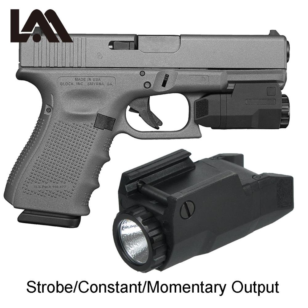 Tactical Compact APL TACTICAL APLC Pistolenlicht Konstante / Strobe Flashlight LED White Light Fit Picatinny Rail