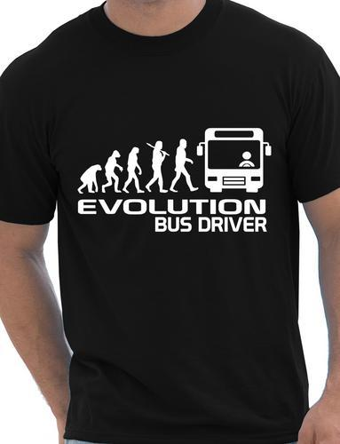 Эволюция водителя автобуса мужская футболка подарок смешная футболка унисекс больше размера и цветов-A113