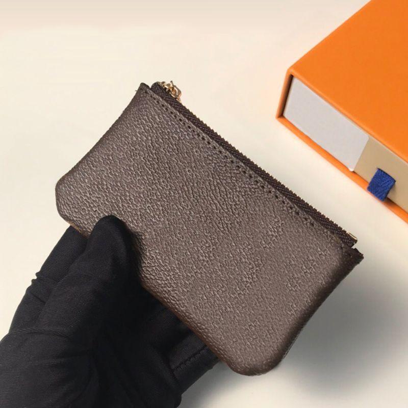 Porte-clés Boîte de mode Boîte portefeuille Hommes anneau Credit Credit Porte-monnaie Mini Mini Coin Sac Charm M62650 Femmes avec Iueuq