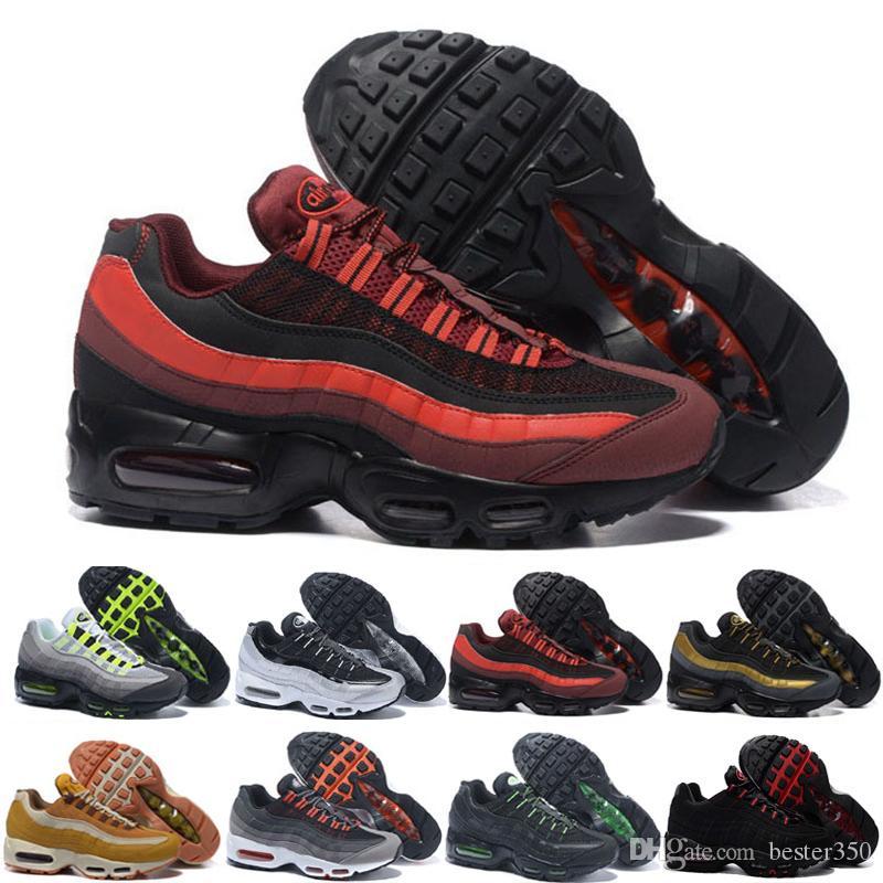 Caducado Acuerdo Intentar  Compre Nike Air Max 95 Airmax 2018 Zapatos Calientes Del Cojín Aniversario  MID 2017 Para Hombre De Los Zapatos Corrientes Del Nuevo Verde Sneakerboot  Ejército Negro A 61,64 € Del Bester350 | DHgate.Com